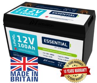 Aceleron Essential 100Ah lithium leisure battery
